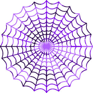 Camouflage Purple Spiders Web.