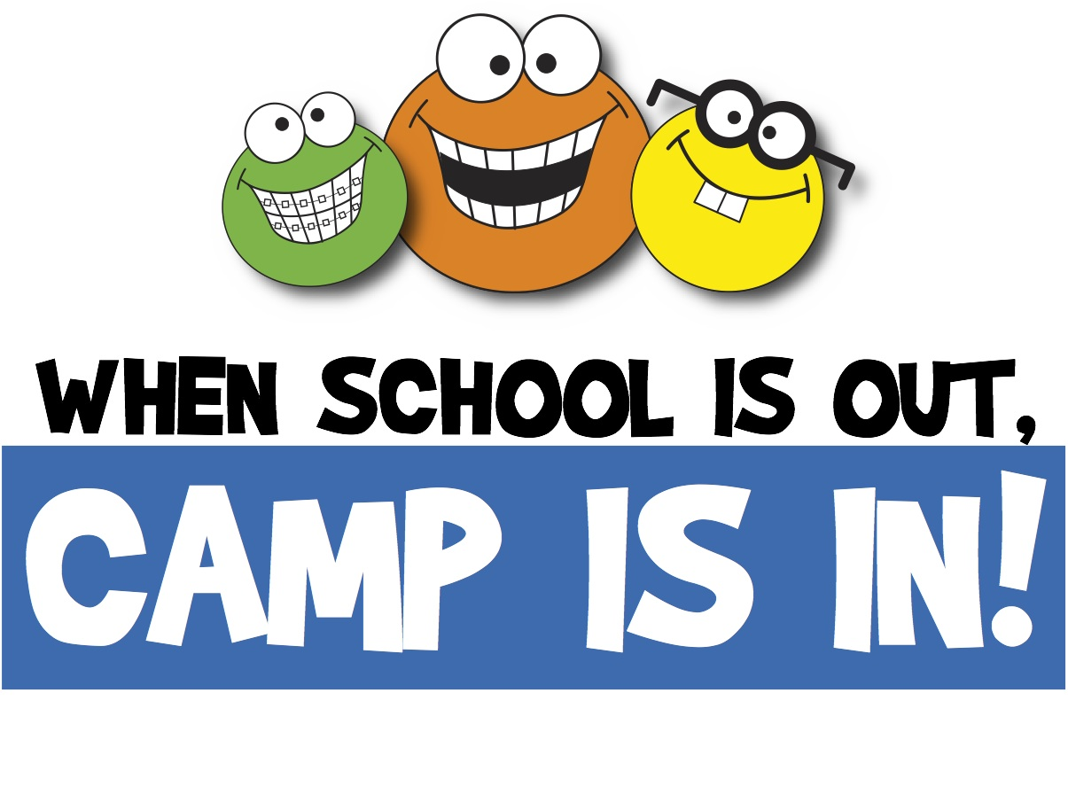 Summer camp day camp cartoon clipart.