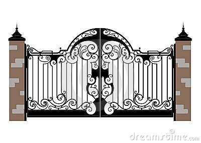 Clip Art Of Locks For Gates Clipart.