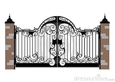 Clip Art Of Locks For Gates Clipart.