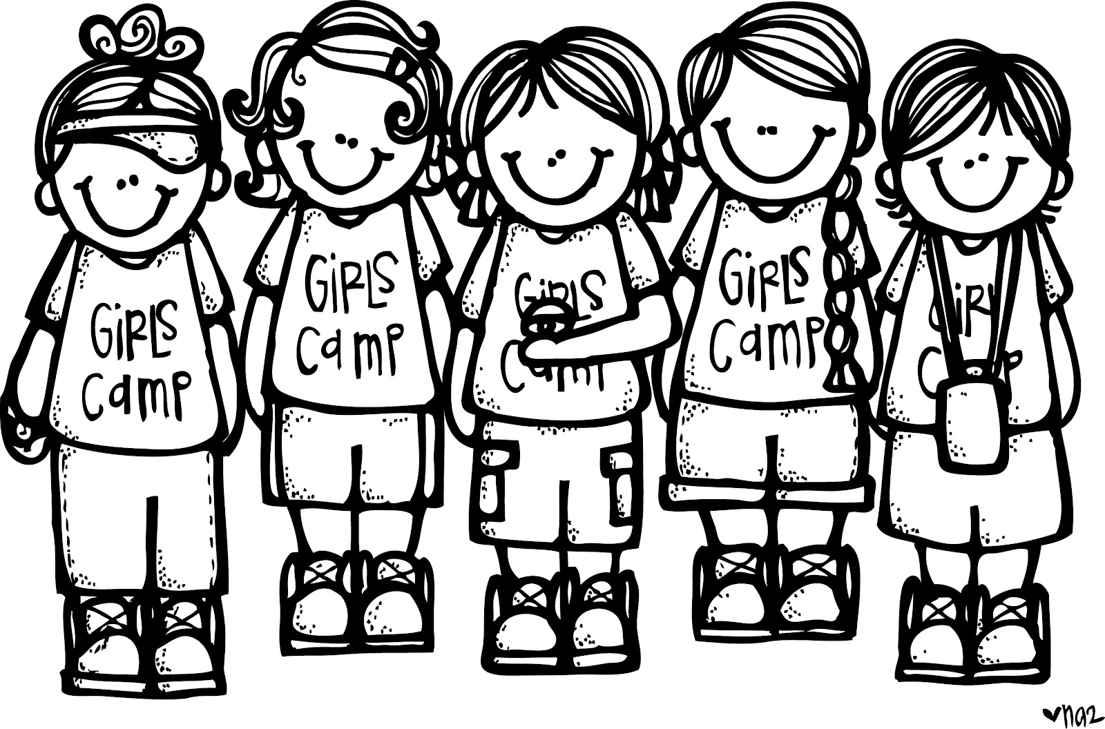 Melonheadz LDS illustrating: Girls Camp Illustrations.