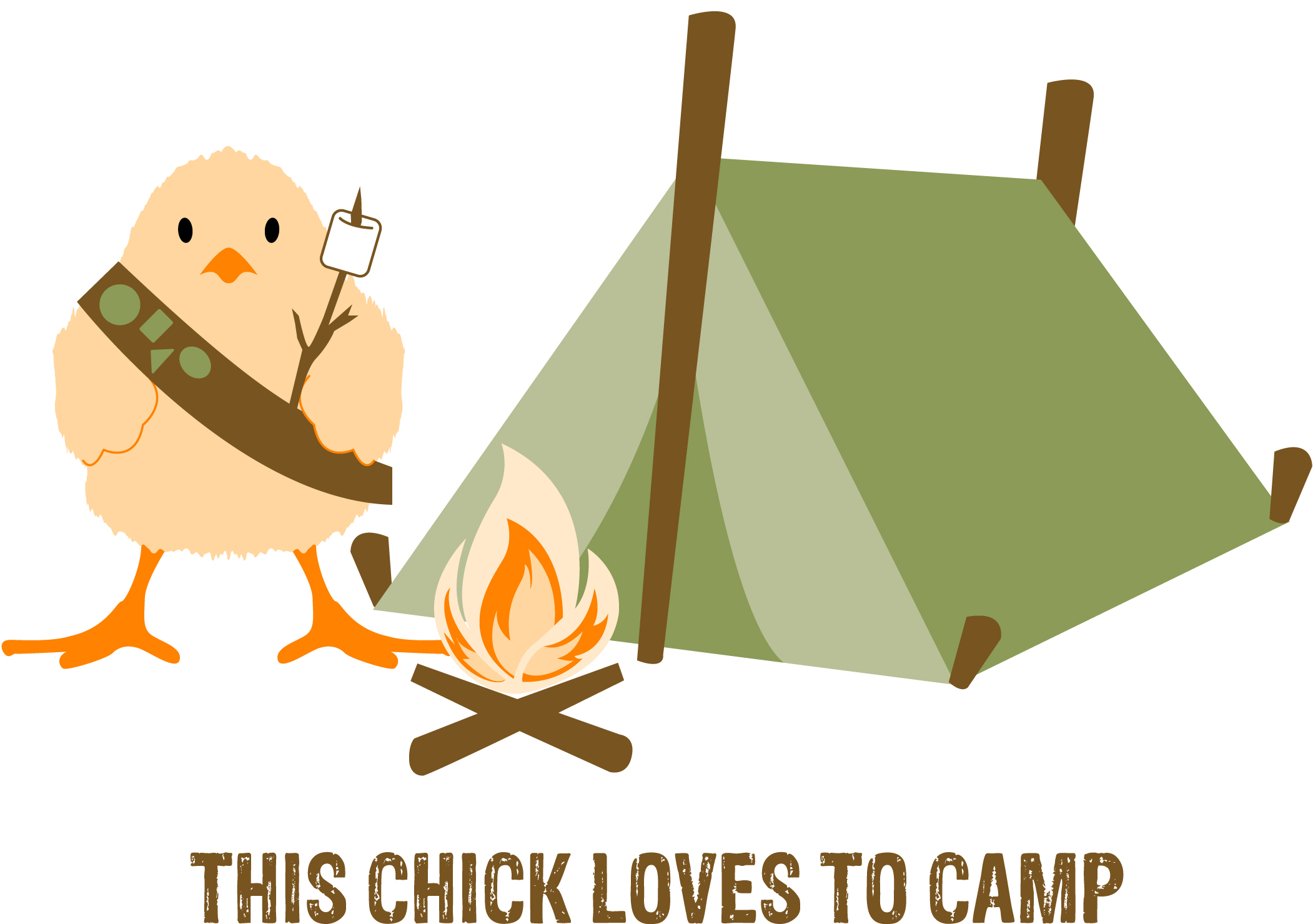 Girl Scout Camp Clipart.