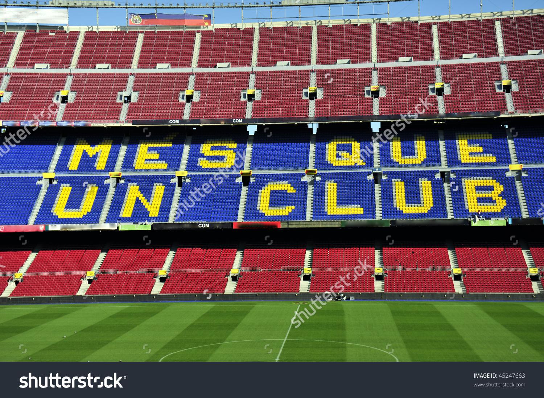 Close Soccer Stadium Camp Nou Barcelona Stock Photo 45247663.
