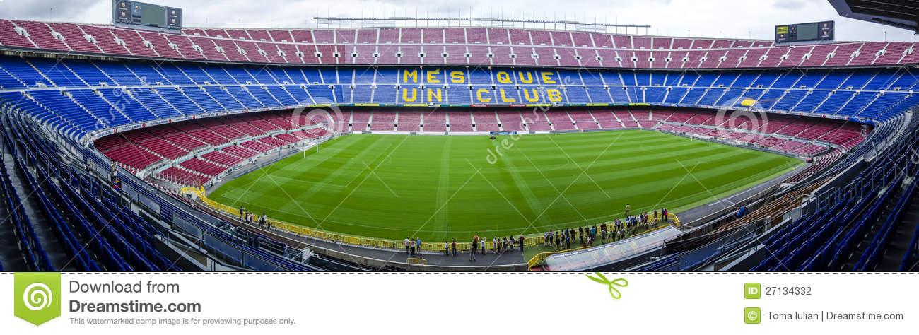 Camp Nou Stadium FC Barcelona Editorial Photography.