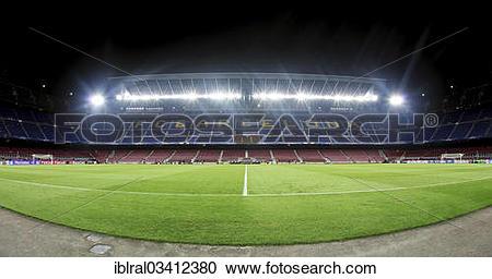 "Stock Photography of ""Camp Nou stadium, grandstand, Barcelona."