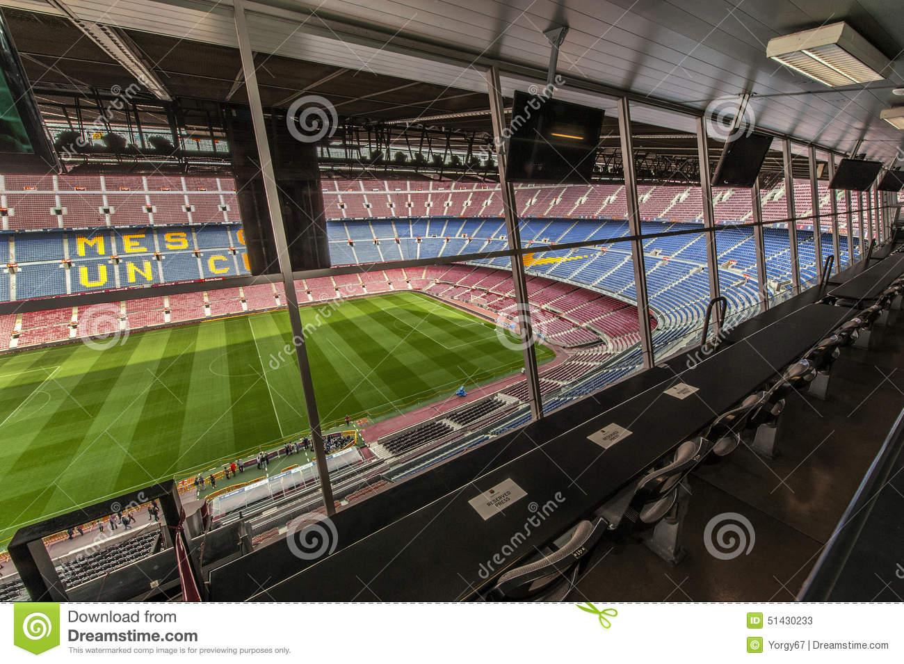 Camp Nou Stadium Editorial Stock Photo.