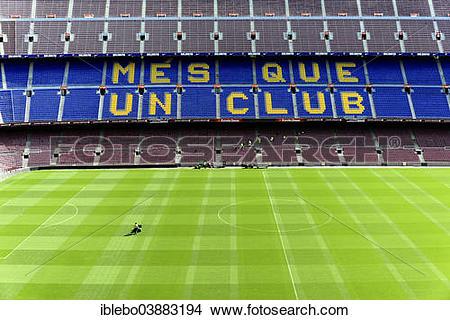 "Stock Photo of ""Camp Nou Stadium, Barcelona, Catalonia."