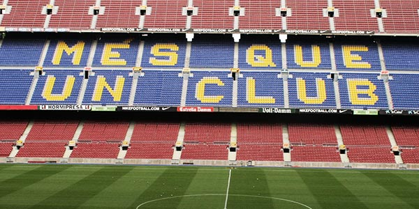 Information About FC Barcelona and the Camp Nou stadium.