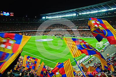 Aerial View Of Camp Nou.