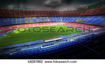 Stock Photo of The Camp Nou stadium in Barcelona, Spain k8287862.