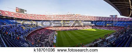 Stock Images of Camp Nou k18701036.