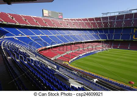 Stock Photo of Camp Nou stadium.