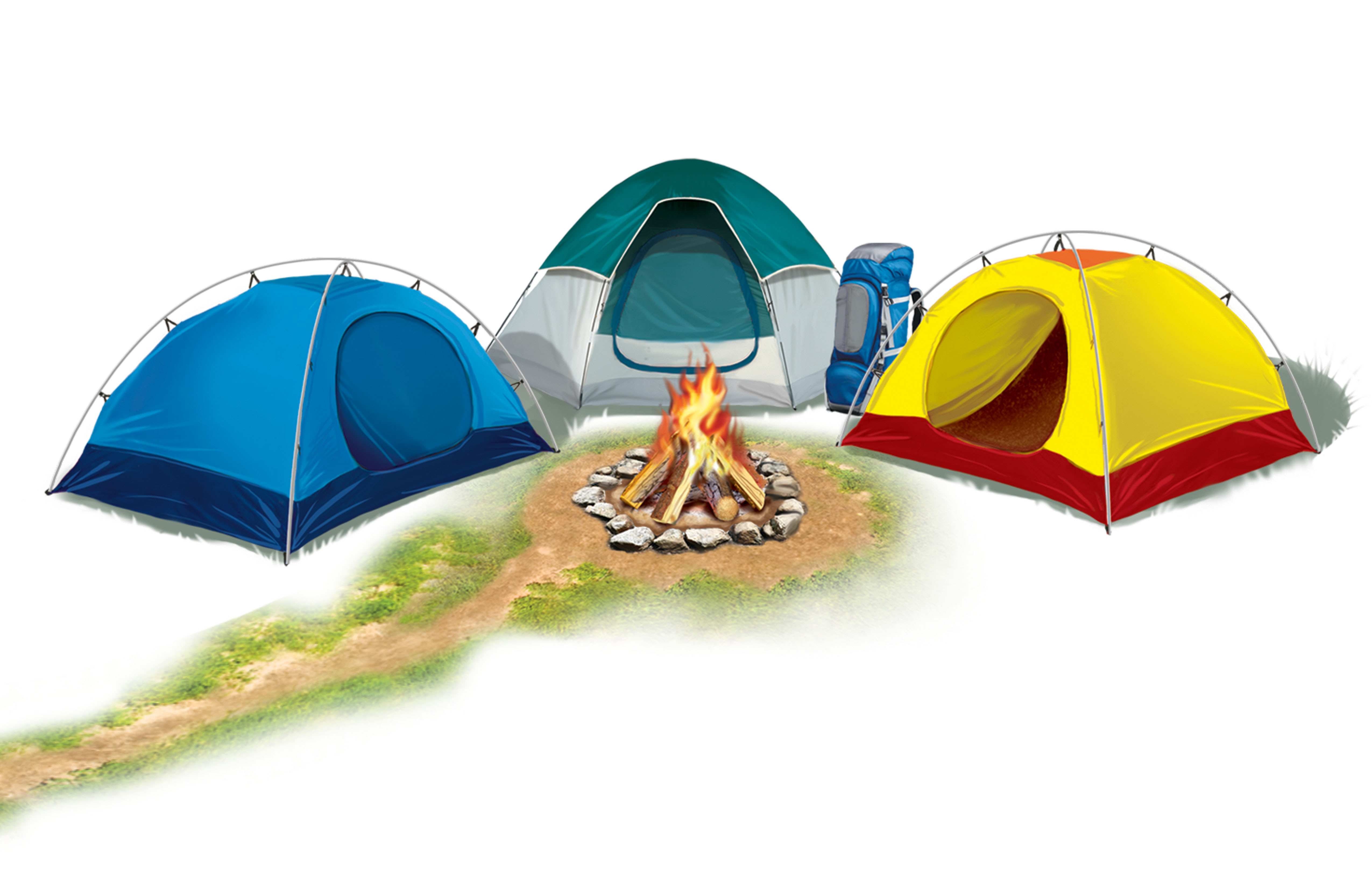 Family Camp Out Clipart.