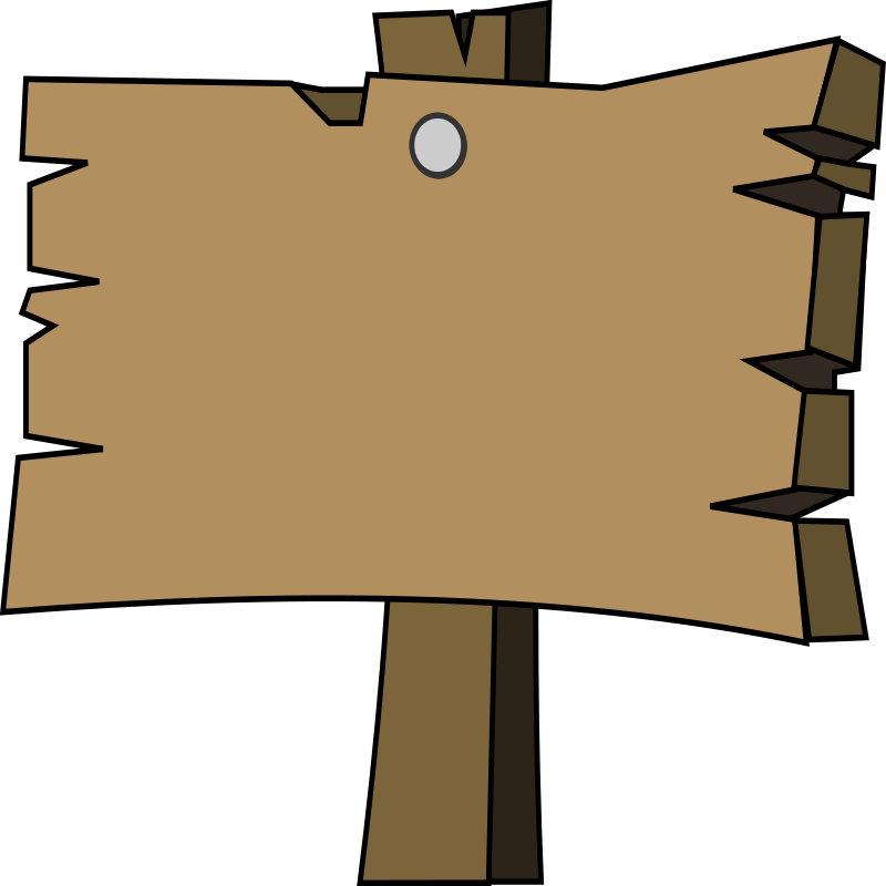 Wood signal Clipart camp free.