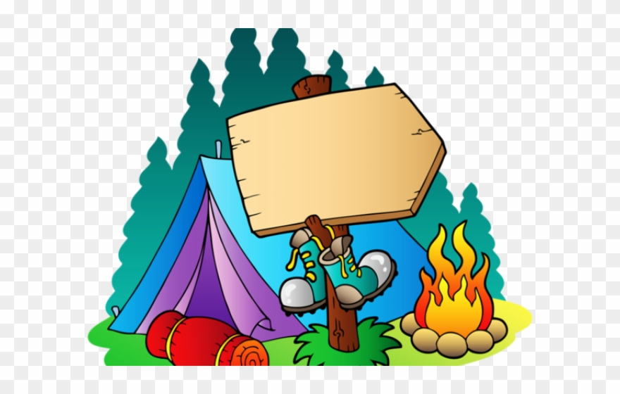 Campsite Clipart Yard Sign.