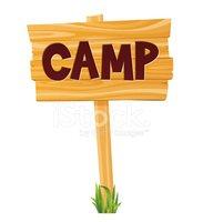 Camp Sign stock vectors.