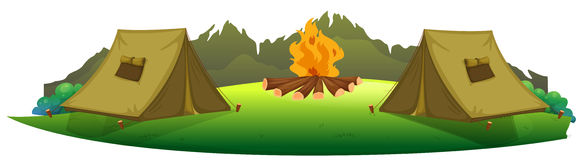 Camp Background Clipart.