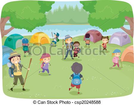 Camp site Vector Clip Art Illustrations. 707 Camp site clipart EPS.