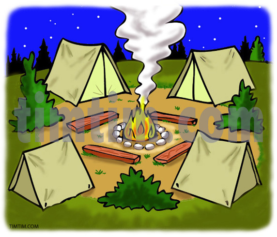 Camp site clipart clipground for Free drawing sites