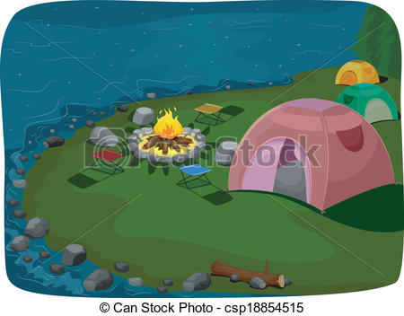 Camp site Vector Clip Art Illustrations. 707 Camp site clipart EPS.