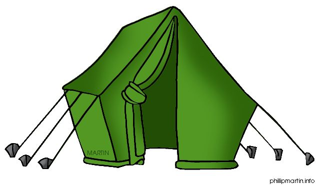 Camp tent clipart image.