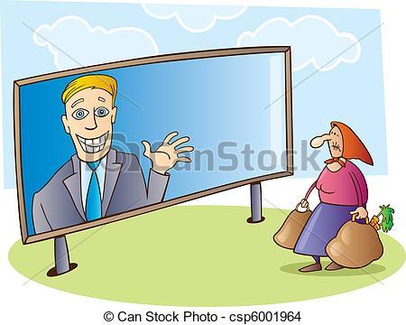 EPS Vector of Election campaign billboard.