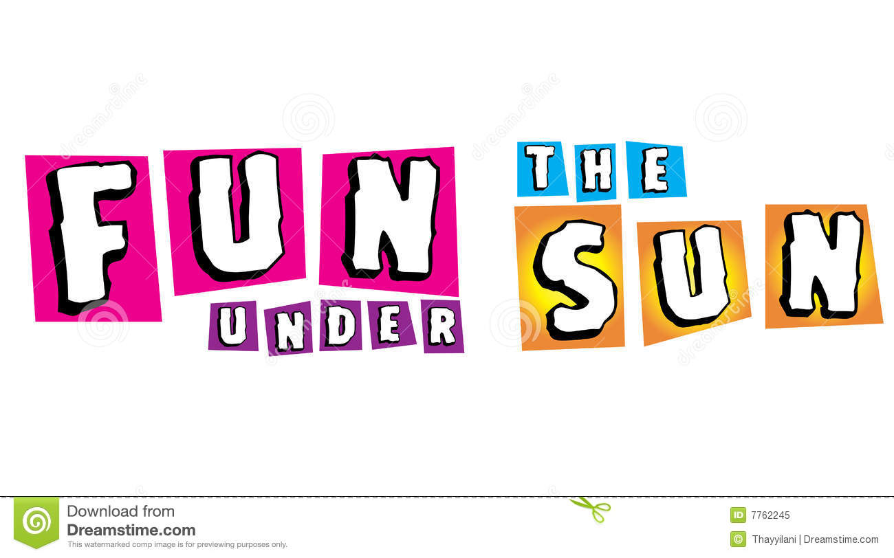 Fun Under The Sun For Summer Campaign Royalty Free Stock Photo.