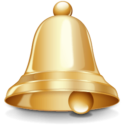Gold Bell Clipart transparent PNG.