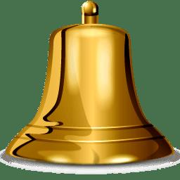 Gold Bell transparent PNG.