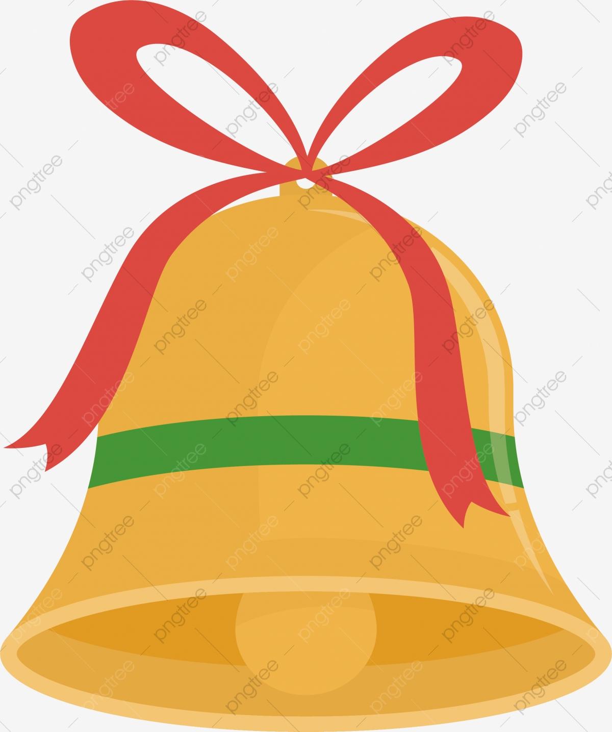 Navidad Campanas De Oro, Vector Png, Pequeña Campana, Campana De Oro.