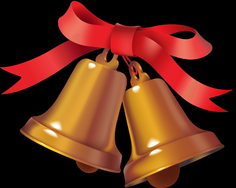 Dos Campanas de Navidad PNG transparente.