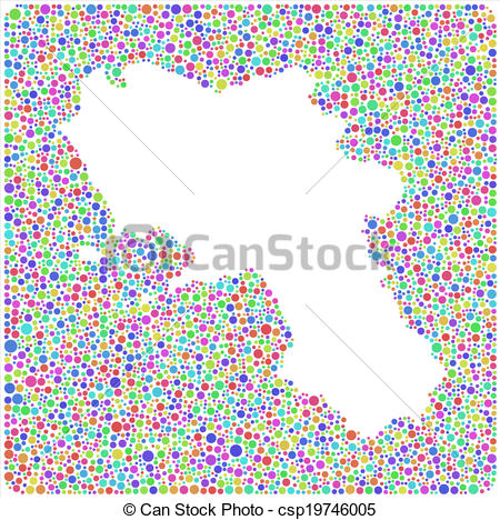 Vector Clipart of Isolated map of Campania.