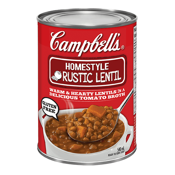 Campbell's Homestyle Rustic Lentil.