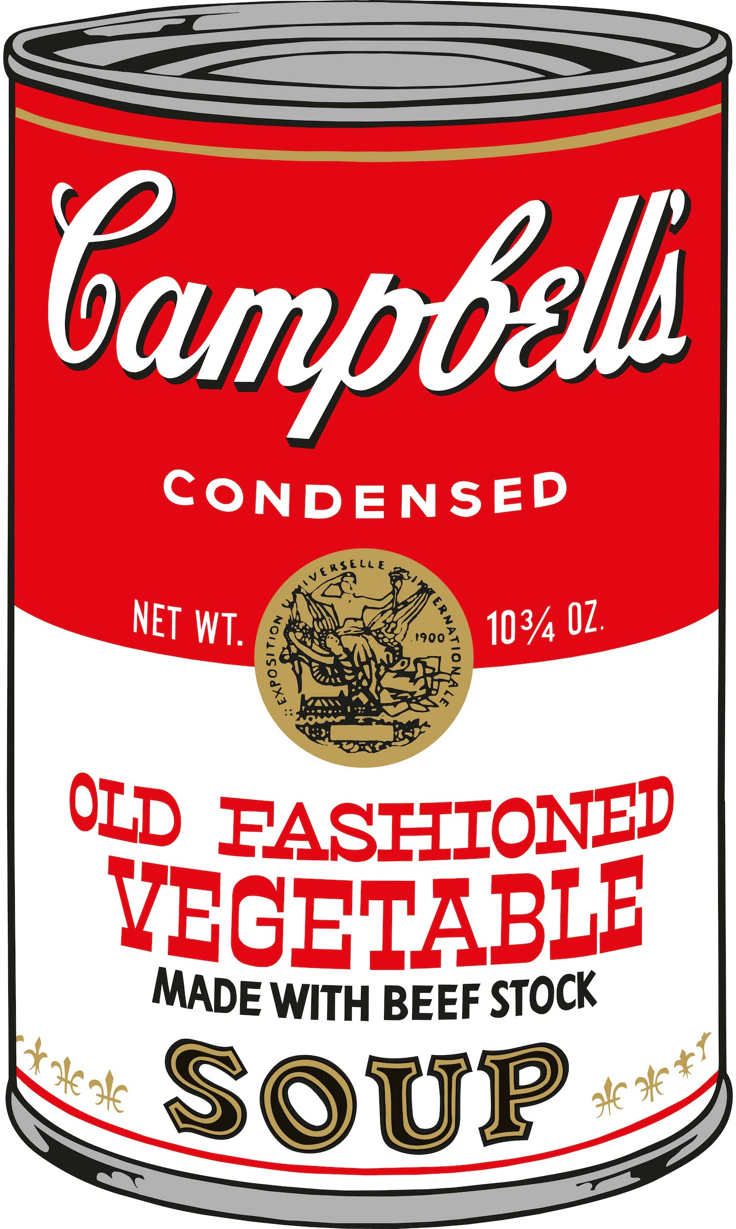 Warhol Campbell's Soup.