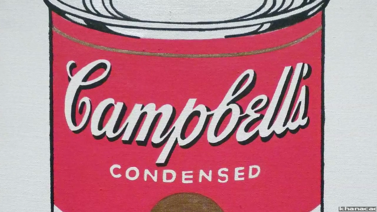 Why is this art? Andy Warhol, Campbell's Soup Cans (video).