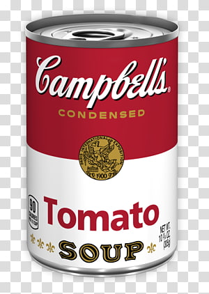 Campbell\'s Soup Cans Tomato soup Tin can , Soup transparent.