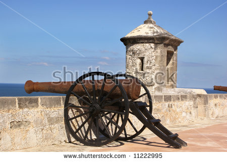Old Cannon Rooftop Fort Campeche Stock Photo 28628470.