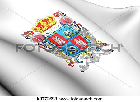 Stock Illustration of Flag of Campeche, Mexico. k9772698.