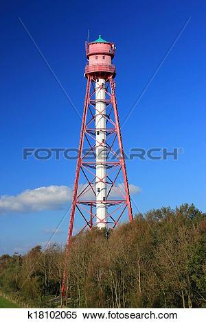 Stock Image of Campen Lighthouse, Germany k18102065.