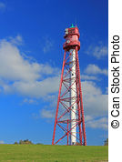 Stock Photographs of Campen Lighthouse, Germany.