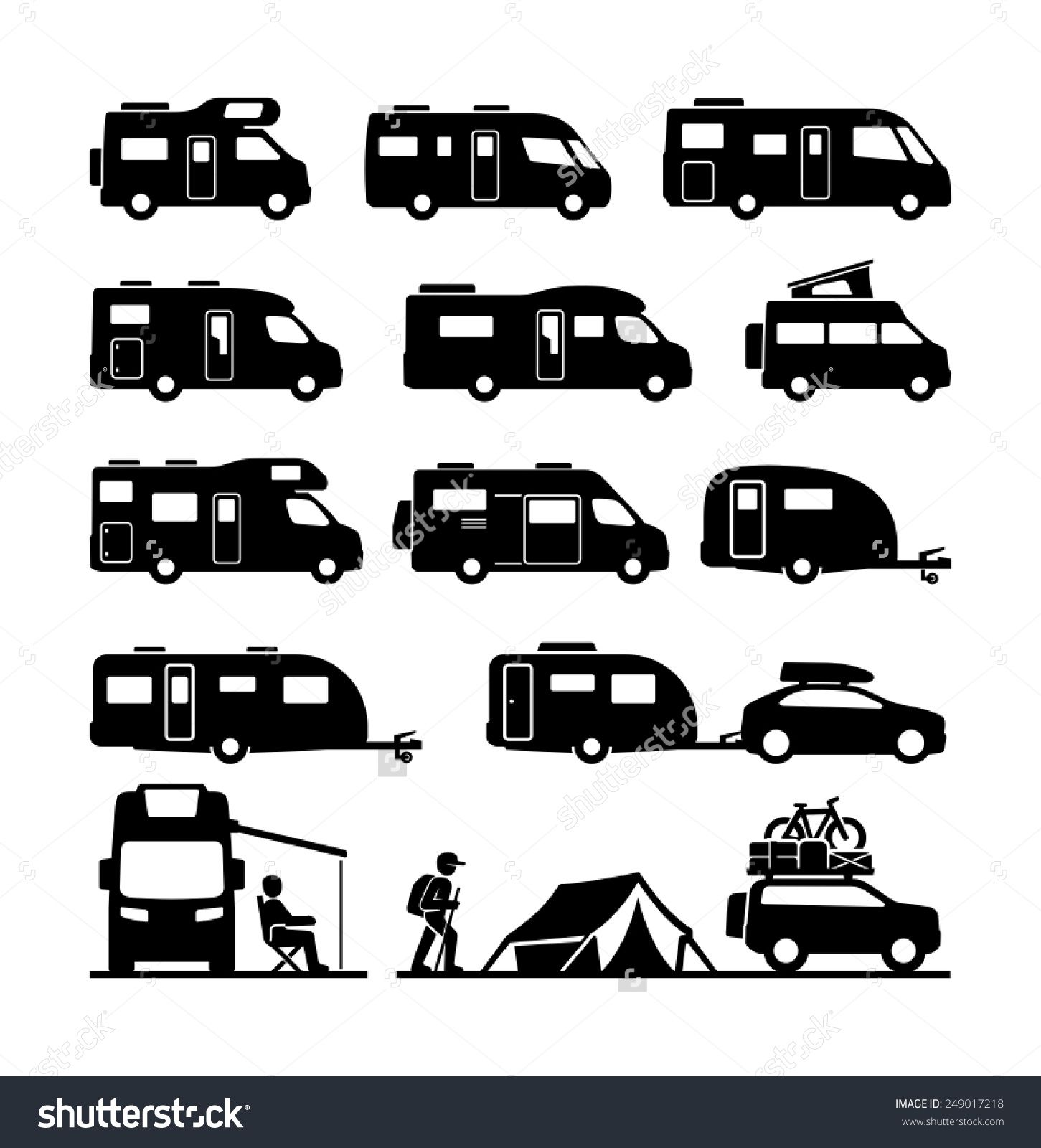 Camper clipart black white 6 » Clipart Station.