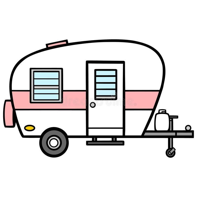 Camper Stock Illustrations.