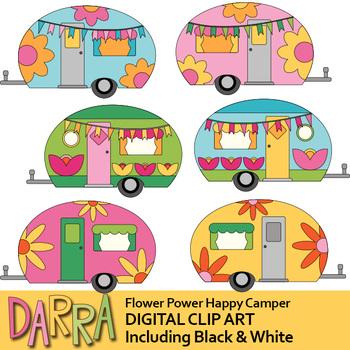 Happy Camper Clip Art.