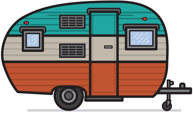 Free vintage camper clipart.