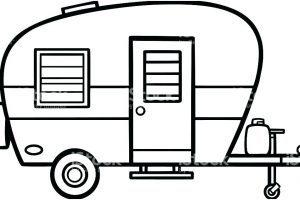 Camper clipart black white 6 » Clipart Portal.