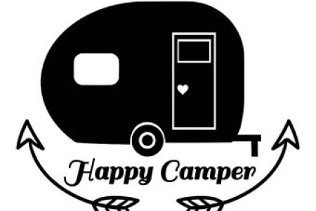Happy camper clipart black and white 7 » Clipart Station.