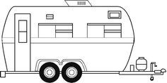 Image result for camper clipart black white.