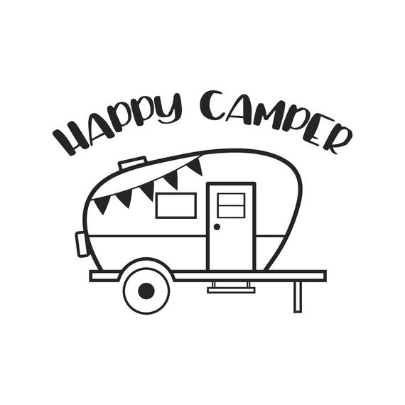 Happy camper clipart black and white » Clipart Station.