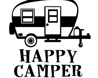 Camper Clipart Black White.