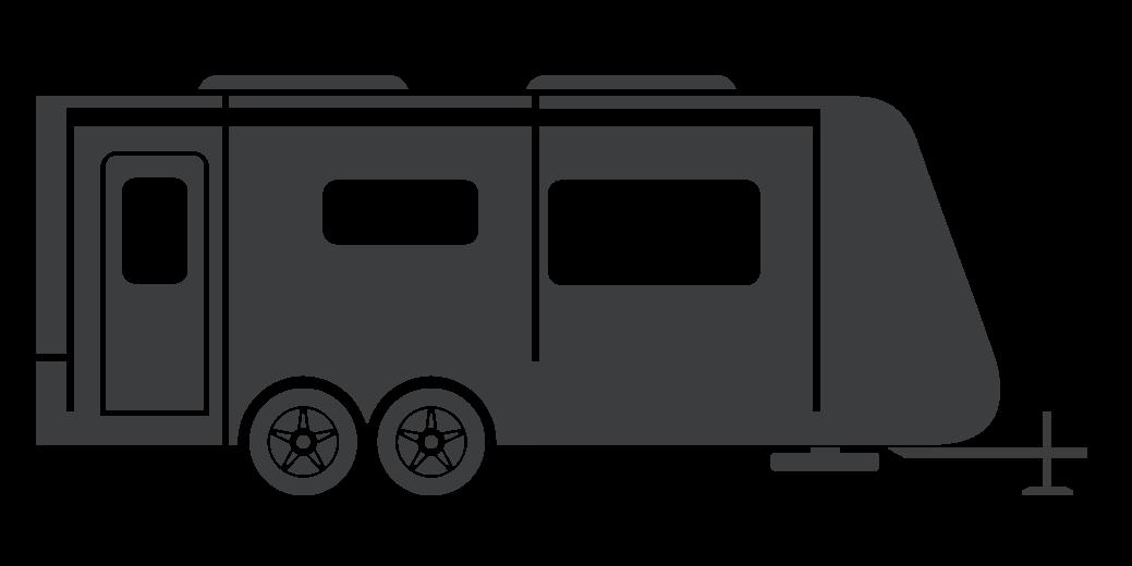 Image result for camper trailer clipart black white.